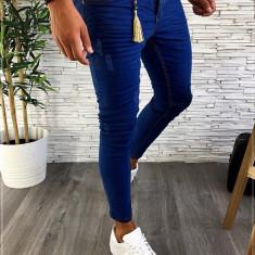 Blugi premium - conici albastri pentru barbati - LICHIDARE DE STOC A2332 D4-4, 29, 31 - 33, 38, Din imagine, Slim Fit