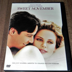 DVD original Sweet november 2001 original SUA Keanu Reeves  Charlize Theron, Altele