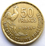 MOKAZIE , FRANTA , 50 FRANCS 1951 , URIASA 27mm., Europa