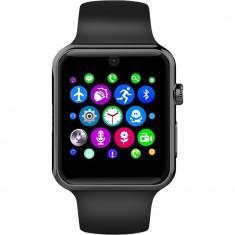 Smartwatch Exclusive Negru Si Curea Sport Neagra