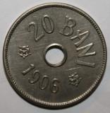 OKAZIE !!! 20 BANI 1906 BRUXELLES . UNC . DE COLECTIE .