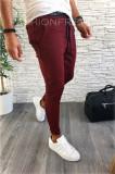 Pantaloni PREMIUM de trening grena pentru barbati - slim fit - A2353 F1-1, Din imagine
