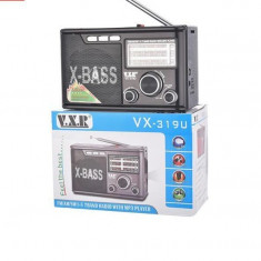 Radio AM / FM / SW1-5 / USB / TF cu 7 benzi Radio, VX-319U, cu LED-uri, Digital, 0-40 W