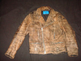 Geaca barbati, Moto/Motor/Biker/Casual PHANTASM Real Leather/vintage/colectie, L, Piele