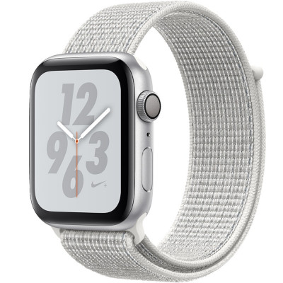 Smartwatch Watch 4 Nike Plus GPS 44MM Aluminiu Argintiu Si Curea Sport Loop Alb foto