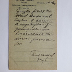 Cluj-Napoca - Dr Vegh Jozsef - Avocat-Carte posta pentra Avocati, Cluj Napoca, Circulata, Printata