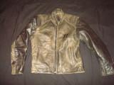 Geaca barbati, piele naturalat ip moto/motor/vintage/casual/clasic/colectie/noua, 50, Gri