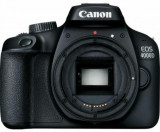 Aparat Foto D-SLR Canon EOS 4000D, Body, 18 MP, Ecran 2.7inch LCD, Filmare Full HD (Negru)