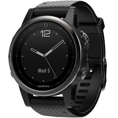 Smartwatch Fenix 5s Sapphire Edition Otel Inoxidabil Negru foto