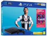 Consola Sony PlayStation 4 Slim 500GB + FIFA 19 (Negru)