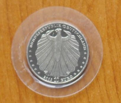 Germania 2011 , moneda 10 euro din argint , 925 ; 18 grame ; diametru : 32,5 mm