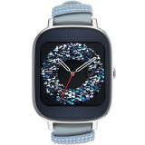 Smartwatch ZenWatch 2 Otel Inoxidabil Argintiu Si Curea Piele Albastru Swarowski, Asus