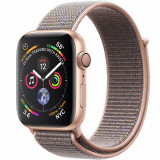 Smartwatch Watch 4 GPS 44MM Aluminiu Auriu Si Curea Loop Roz, Apple