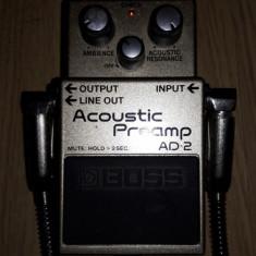 Preamp BOSS AD2 pentru chitara electro-acustica 550 RON