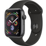 Smartwatch Watch 4 GPS 44MM Aluminiu Negru Si Curea Sport Negru, Apple