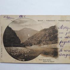 Valcea - Calimanesti -Tunel langa Turnul - cp 1904, Circulata, Printata