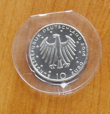 Germania 2014 , moneda 10 euro din argint , 925 ; 18 grame ; diametru : 32,5 mm