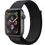 Smartwatch Watch 4 GPS 44MM Aluminiu Negru Si Curea Loop Negru, Apple