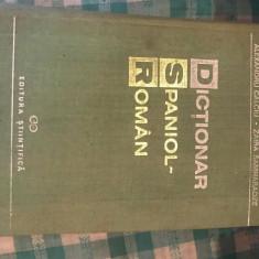 Dictionar spaniol-roman Alexandru Calciu