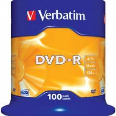 Blank DVD-R, 16X, 4.7GB, Spindle 100
