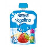 Piure de Mere si Capsuni Yogolino, 90 g, Nestle