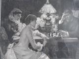GRAVURA VECHE, Portrete, Cerneala, Altul