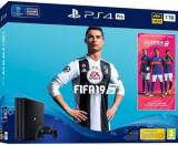 Consola Sony PlayStation 4 Pro 1TB + FIFA 19 (Negru)