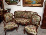 Superb salon antic cu tapiserie goblen