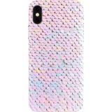 Husa Capac Spate Glitter Alb APPLE iPhone XR, BENJAMINS