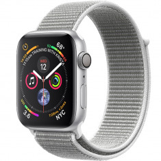 Smartwatch Watch 4 GPS 44MM Aluminiu Argintiu Si Curea Loop Argintiu, Apple