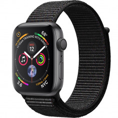 Smartwatch Watch 4 GPS 40MM Aluminiu Negru Si Curea Loop Negru, Apple