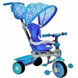 Tricicleta metalica 3 in 1 albastru