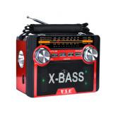 Radio FM vx034 cu lumină torță lumină cu disco lumina