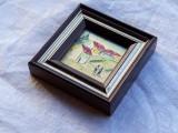 TABLOU placat cu aur de 24 karate SPLENDID in miniatura DECOR superb