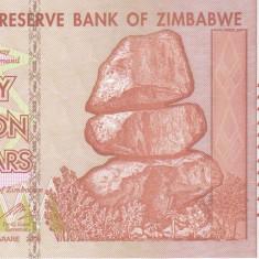 Bancnota Zimbabwe 50.000.000.000 Dolari 2008 - P87 UNC