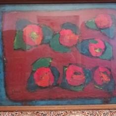 ***Un tablou -MACI - de PACEA***, Flori, Ulei, Realism