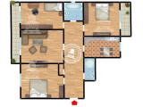 Apartament 4 camere de vanzare Nicolina - C.U.G.,113000 EUR, Etajul 3