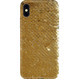 Husa Capac Spate Glitter Auriu APPLE iPhone XR, BENJAMINS