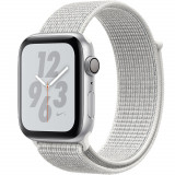 Smartwatch Watch 4 Nike Plus GPS 40MM Aluminiu Argintiu Si Curea Sport Loop Alb, Apple