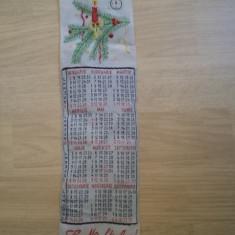 Semn de carte calendar la multi ani 1984 RSR brodat epoca de aur colectie hobby