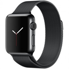 Watch Otel Inoxidabil Negru 38 MM Si Curea Milanese Loop Neagra, 38mm, Apple