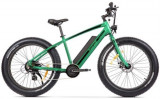 Bicicleta Pegas Superm Dinamic Electric, Autonomie 70 Km, Viteza maxima 25 Km/h, Cadru 19inch, Roti 26inch, 8 Viteze (Verde)