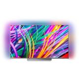 Televizor Philips LED Smart TV Ambilight 55 PUS8303 139cm Ultra HD 4K Silver
