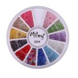 Carusel decor pentru unghii J219, model bilute multicolore