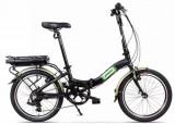 Bicicleta Electrica Pegas Camping Dinamic 7S, Pliabila, Roti 20inch, 7 Viteze (Negru)