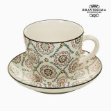 Cup with Plate Portelan Cu imprimeuri Kitchen s Deco Colectare by Bravissima Kitchen