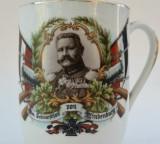 Cana veche patriotica de portelan primul razboi mondial 1914 WW1 / WWI