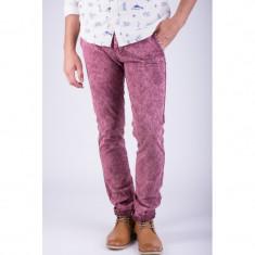Pantaloni Lungi Bumbac Alcott Torstein Slim Fit Rosu