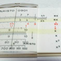 Rigla de calcul Aristo , denumita si rigla logaritmica, fabricata in Germania