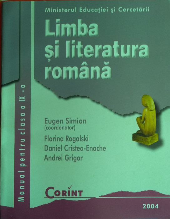 Limba și literatura română clasa a IX-a